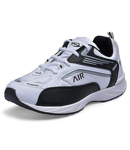 Lancer Men s JJ-AIR Black   White Mesh Synthetic Sports Shoe Size ... 48d38bcfc
