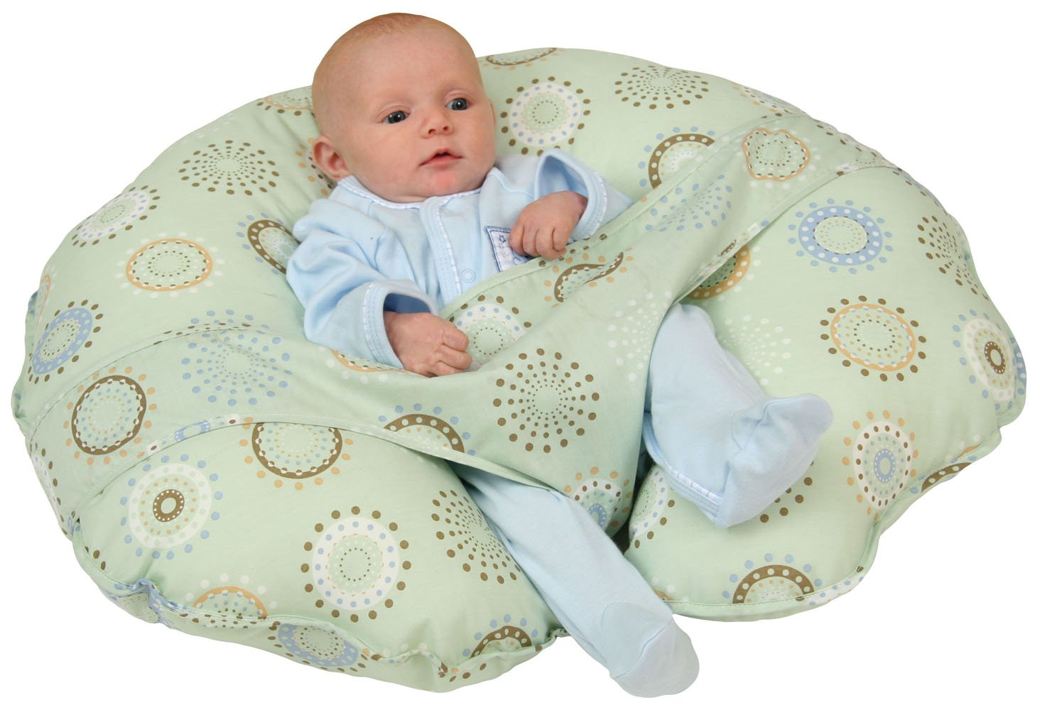 Leachco Cuddle-U Original Nursing Pillow, Sunny Circles 13938