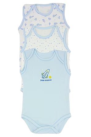ba29f3c0e 3 Pack Sleeveless Baby Boys Vests - 0-3 Months / 56-62 cm / 6.5 kg:  Amazon.co.uk: Clothing