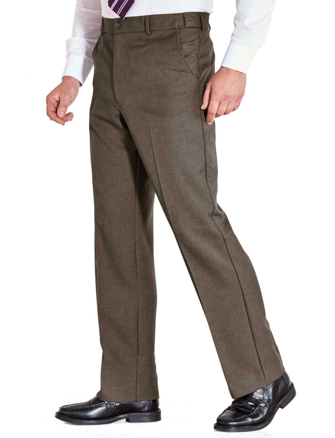 Farah Mens Flex Trouser With Self-Adjusting Waistband