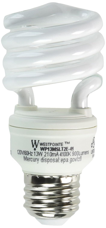 13W Cool White 3M EARTHTRONICS CF13CW1BT2E Westpointe T2eUltra Mini New Generation Compact Fluorescent Bulb