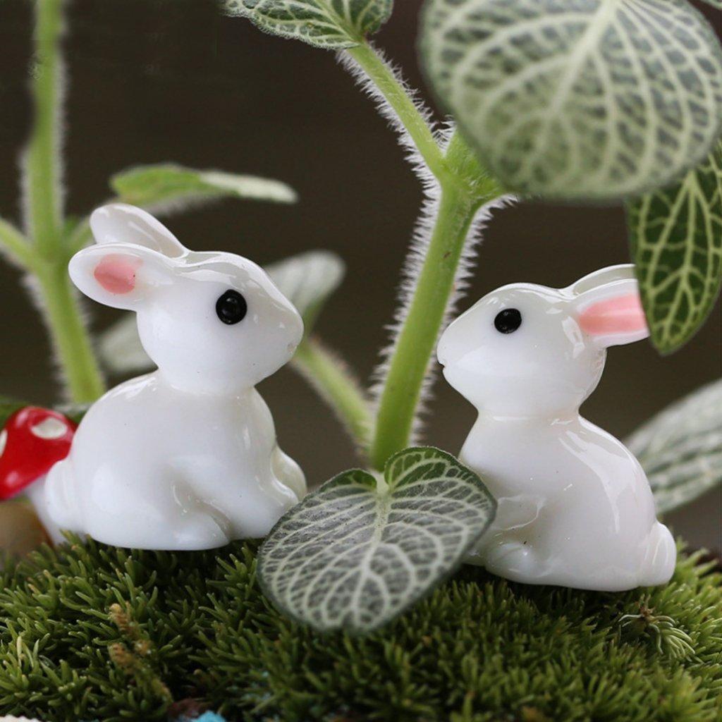 Maison De Poupee Miniature Bonsai Artisanat Jardin Paysage 10pcs Lapins Bricolage De Decoration