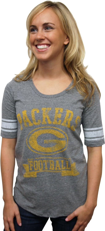 NFL Green Bay Packers Vintage Triblend Short Sleeve Crew Neck Tee Women's