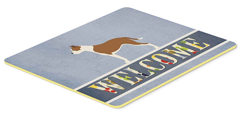 Carolines Treasures BB8325JCMT Pit Bull Terrier Welcome Kitchen Mat 24Hx36W Multicolor