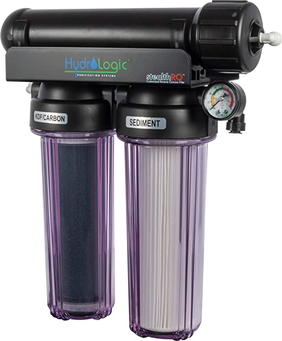 Hydro-Logic Purification Systems Hydrologic Stealth-RO150 with Upgraded KDF85/Catalytic Carbon Filter 36012 Hydroponic Water Filtration for Gardening