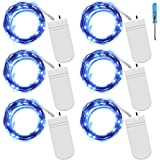 Fairy String Lights with Screwdriver, SENHAI Set of 6 LED Lights Copper Wire, 20 LED Bulbs for Bedroom House Party Wedding Concert Festival Halloween Christmas Tree Decoration - Blue
