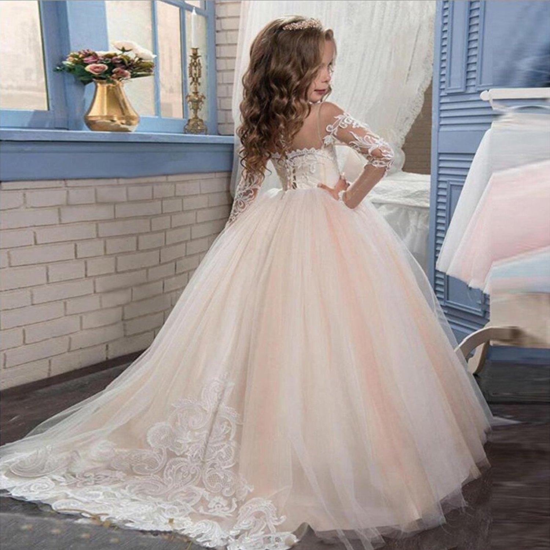 Amazon.com: Feng Zi Ming Toddler Flower Princess Girls Dress Girls Pageant Dress Princess Ball Gown FFD060: Clothing