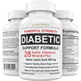 Diabetic Support Supplement - 28 Vitamins Minerals & Herbs with 300 mg Alpha Lipoic Acid Formula for Blood Sugar & Extra…