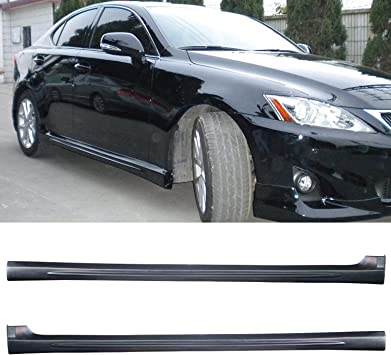 TC Sportline BO-LEIS171142 Type-AR Polyurethane PU Side Skirt Spoiler Body Kits for 2014-2020 Lexus IS250 IS300 IS350