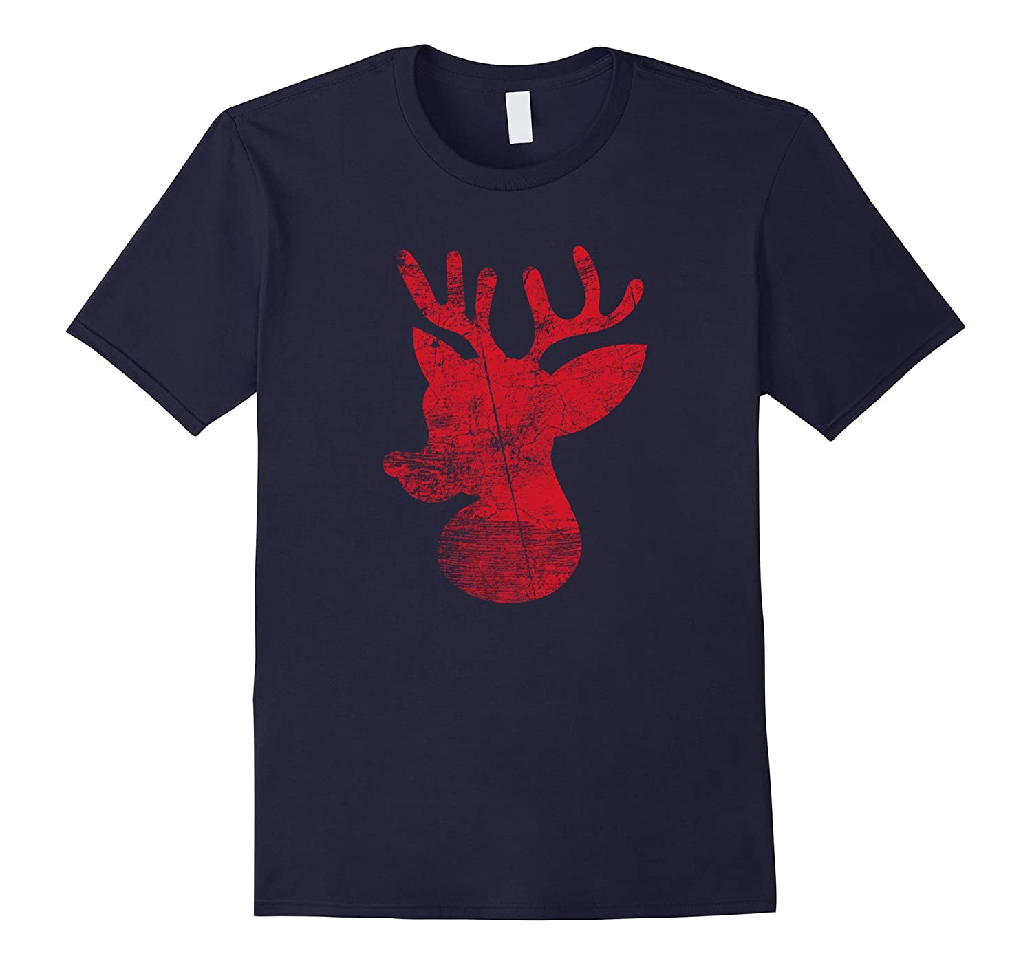 Christmas Holiday Novelty Shirts Rudolph Distress Design-ANZ