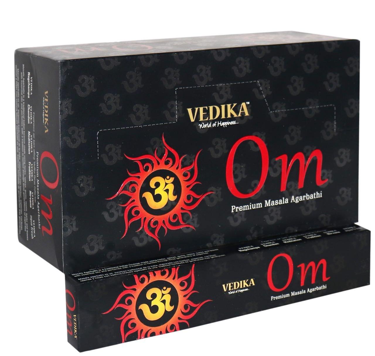 Vedika Om Premium Masala Incense Sticks 15g. x 12 Packets = 180g.