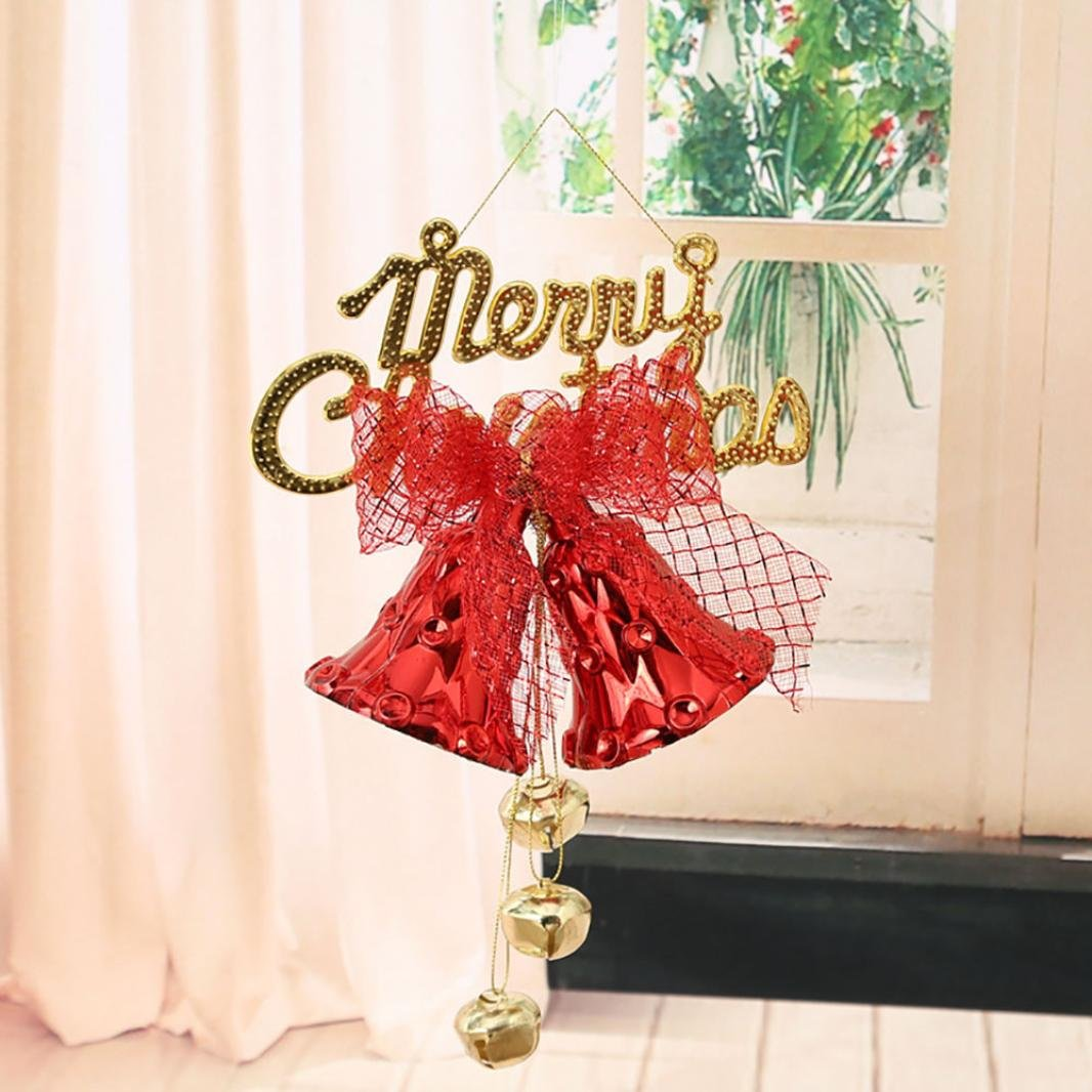 Dore Noeud Sapin Noel Sapin de Noel Decoration a Suspendre Clochette Noeud (Rouge) Ouneed®