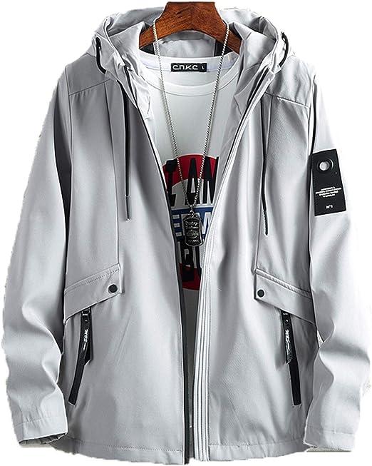 M-7XL ジャケット メンズ 長袖 無地 ウインドブレーカー フード付き 裏ボア 冬 アウター カジュアル 防風 軽量 大きいサイズ ジップアップ カジュアル ビジネス 防寒 ゆったり 冬服 無地 グレー 黒