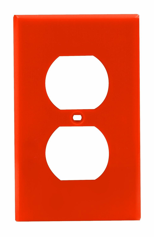 Standard Size Leviton 80703 Org 1 Gang Duplex Device Receptacle Wallplate Orange