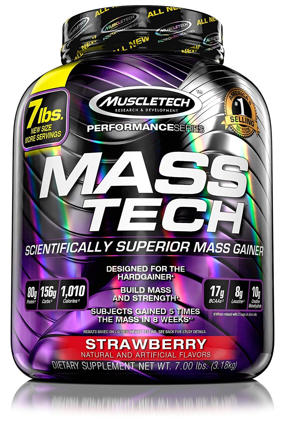 Muscletech Mass Tech Performance 3,2 kg Fresa: Amazon.es: Salud y cuidado personal