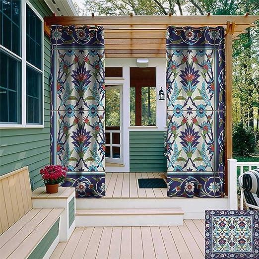 Leinuoyi patrón turco, arandela de cortina para exteriores ...