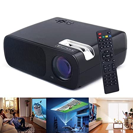 Flylinktech 1080P HD Proyector LED Portátil Foco ajustable 800*480 ...
