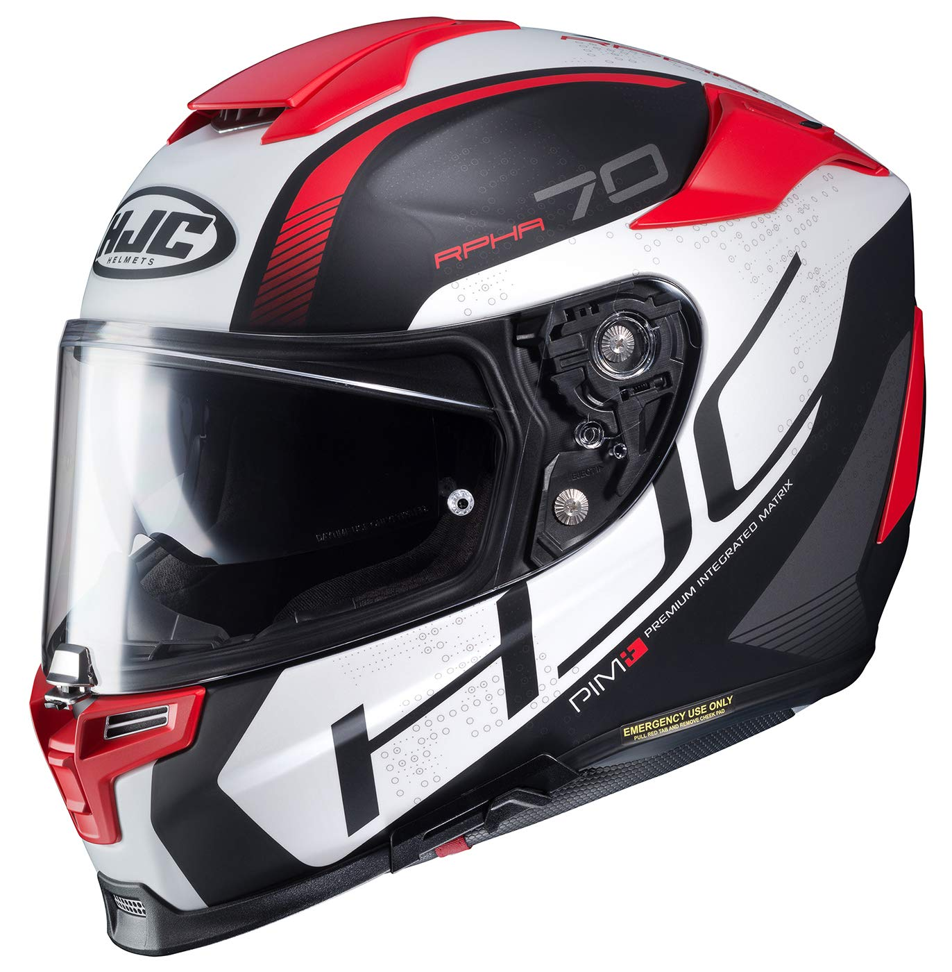 HJC Helmets 1608-952 Black//White Small Rpha-ST Zaytun Helmet