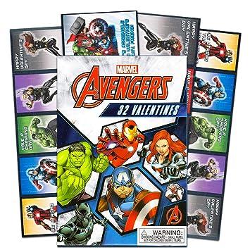 Amazon.com: Paper Magic 32 Count Marvel Avengers Kids aula ...