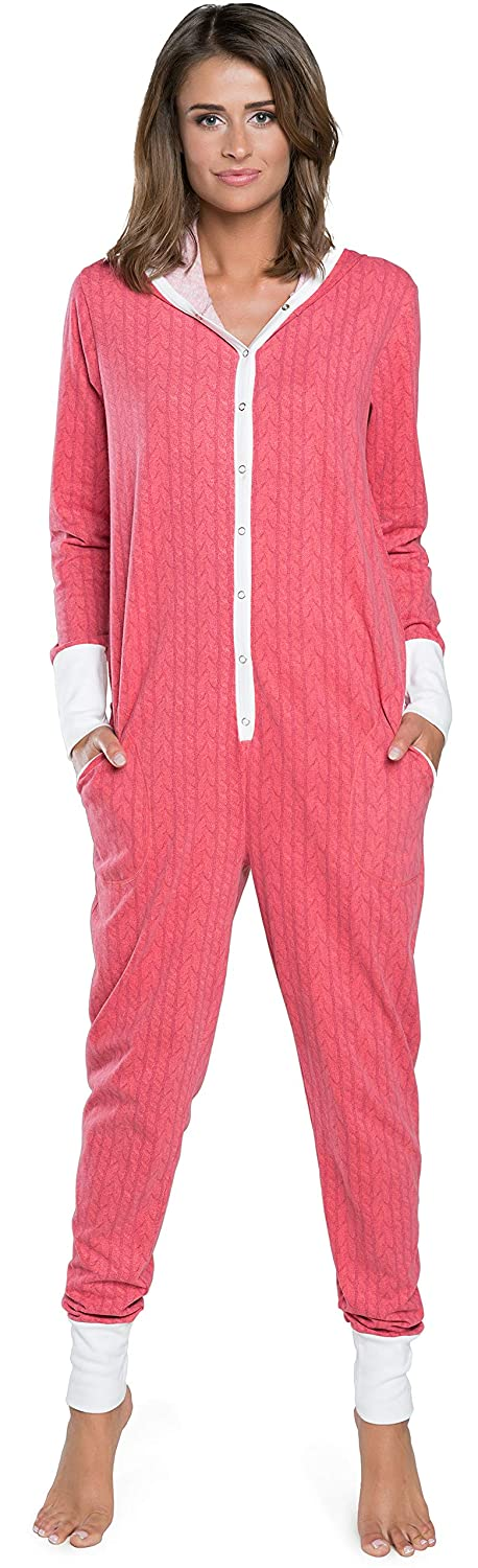 TALLA L. Italian Fashion IF Pijama Entero Mono Mujer IF180012