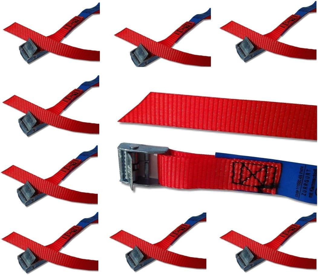 Iapyx Befestigungsriemen Set Ideal Zur Befestigung Am Fahrradträger Klemschloss Gurte Spanngurte 10er Set Rot Elektronik