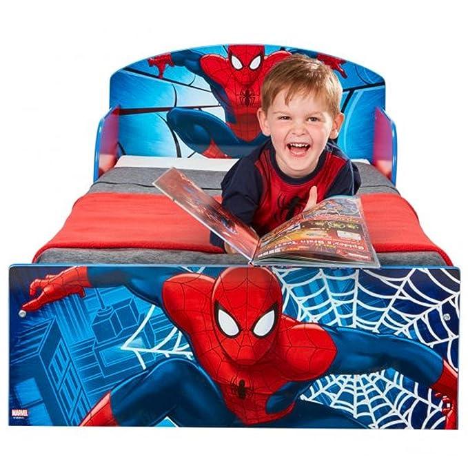 Spiderman Bett 70x140 Kinderbett Kindermöbel Kinderbetten Jungen Babybett Marvel