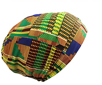 eb7ce00e589 Amazon.com   Fairy Black Mother Dreadlocks Locs Cap (African kente Large