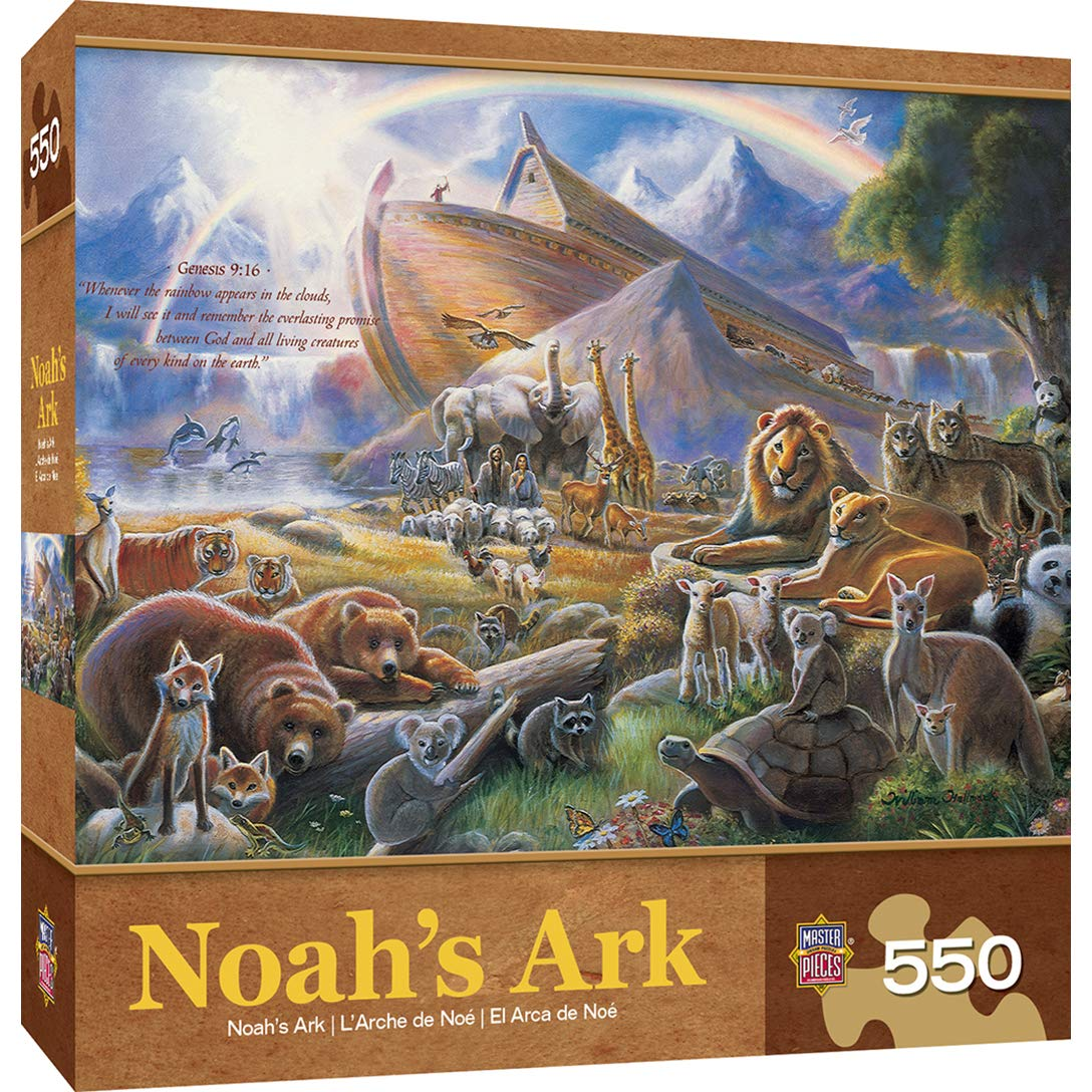 500 pc Boat and Animals Jigsaw by Artist Ruane Manning Bits and Pieces Noahs Ark 500 Piece Jigsaw Puzzle for Adults