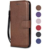 iPhone XR Case, The Grafu® Shockproof Leather Wallet Flip Case with [Card Slots] [Wrist Strap] Stand Function Cover for Apple iPhone XR, Brown