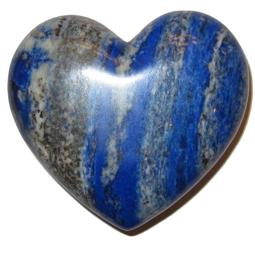 Lapis Heart 06 Supreme Quality Blue Crystal Healing Stone Love Crystal Third Eye Chakra 3.1''