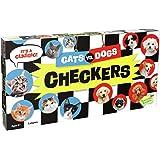 Peaceable Kingdom CHK3 Cat VS Dog Checkers