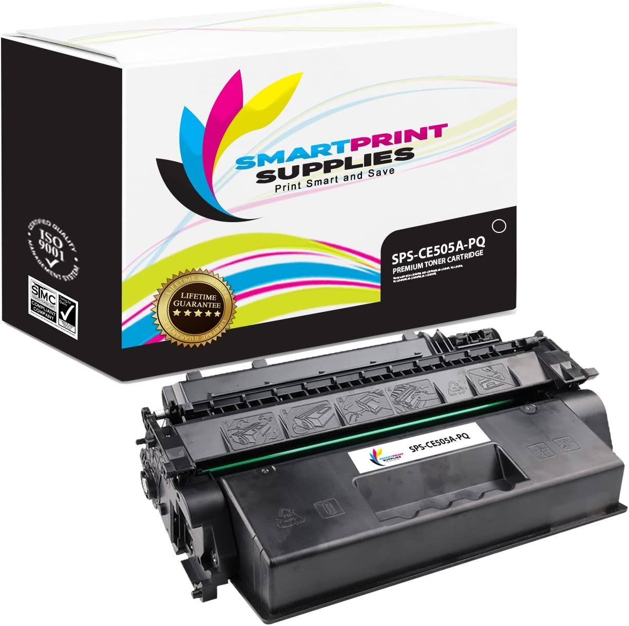 Smart Print Supplies Compatible 05A CE505A Black Premium Toner Cartridge Replacement for HP Laserjet P2030 2050 Series Printers 2,300 Pages 2 Pack
