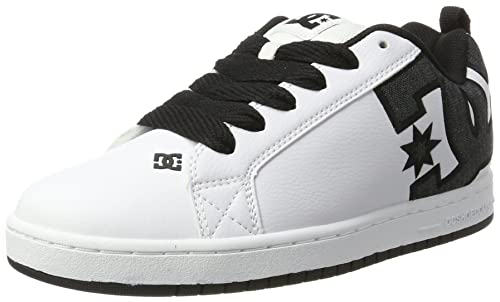 DC Shoes Court Graffik, Zapatillas Para Hombre, Gris (Grey/White), 42 EU (8 UK)