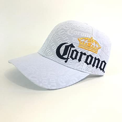 7d08bcf78cf Amazon.com  Corona Extra Beer White Embossed Adjustable Buckle Hat  Sports    Outdoors