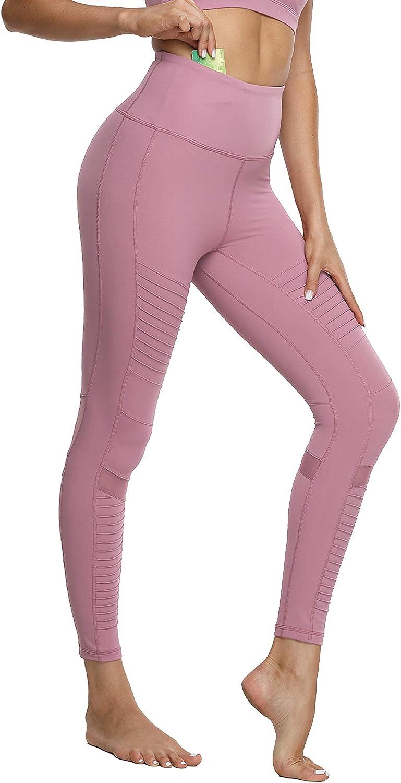 Leggings para mujer activa Panel De Malla Detalle De Cremallera Yoga Gimnasio Fitness Leggings