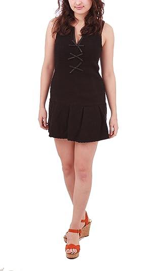 Free People Drop Waist Shirt Dress, Black, 0