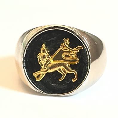 Reggaecollector Ethiopian Ring Lion Of Judah Silver 450072 Import Ethiopia