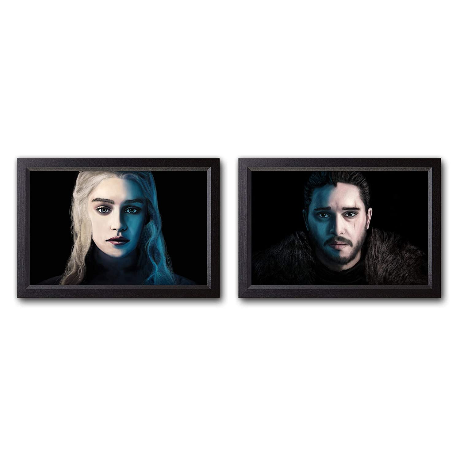 Amazon Com Game Of Thrones Painting Set Daenerys Jon Art Prints Wall Decor Posters Gift 4x6 18x24 In Handmade
