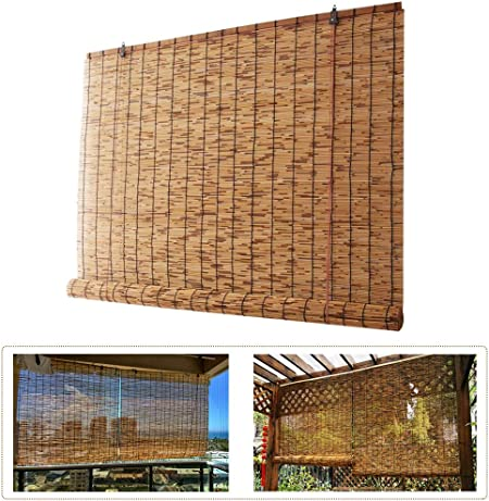 Tende In Midollino A Rullo.Tapparella In Midollino Tenda A Rullo Bamboo Tende Da Sole Per Arredo Esterno Creme Solari Risparmio Energetico Temperatura Di Caduta Rivestimenti Decorativi Per Finestre W100xh140cm 39 5x55in Amazon It Casa E Cucina
