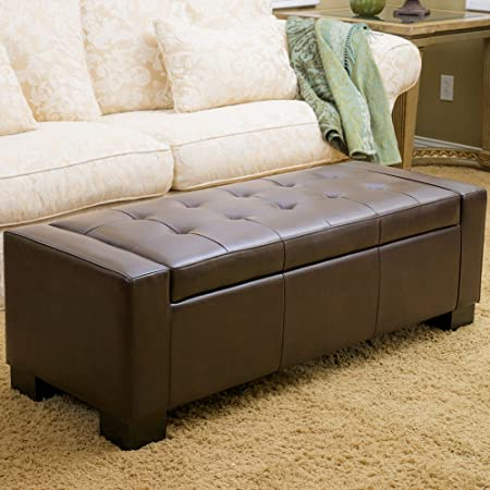 Miraculous Ravello Brown Bonded Leather Storage Ottoman Amazon Co Uk Alphanode Cool Chair Designs And Ideas Alphanodeonline
