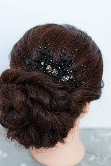 Amazon Com Fxmimior Bridal Hair Accessories Black Hair Comb Gothic