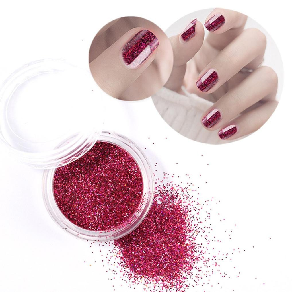 Amazon.com : Holographic Nail Glitter Powder for Girls Women, Clearance Sale! Iuhan Glitter Powder Holographic Nail Art Velvet Chrome Pigment Manicure ...