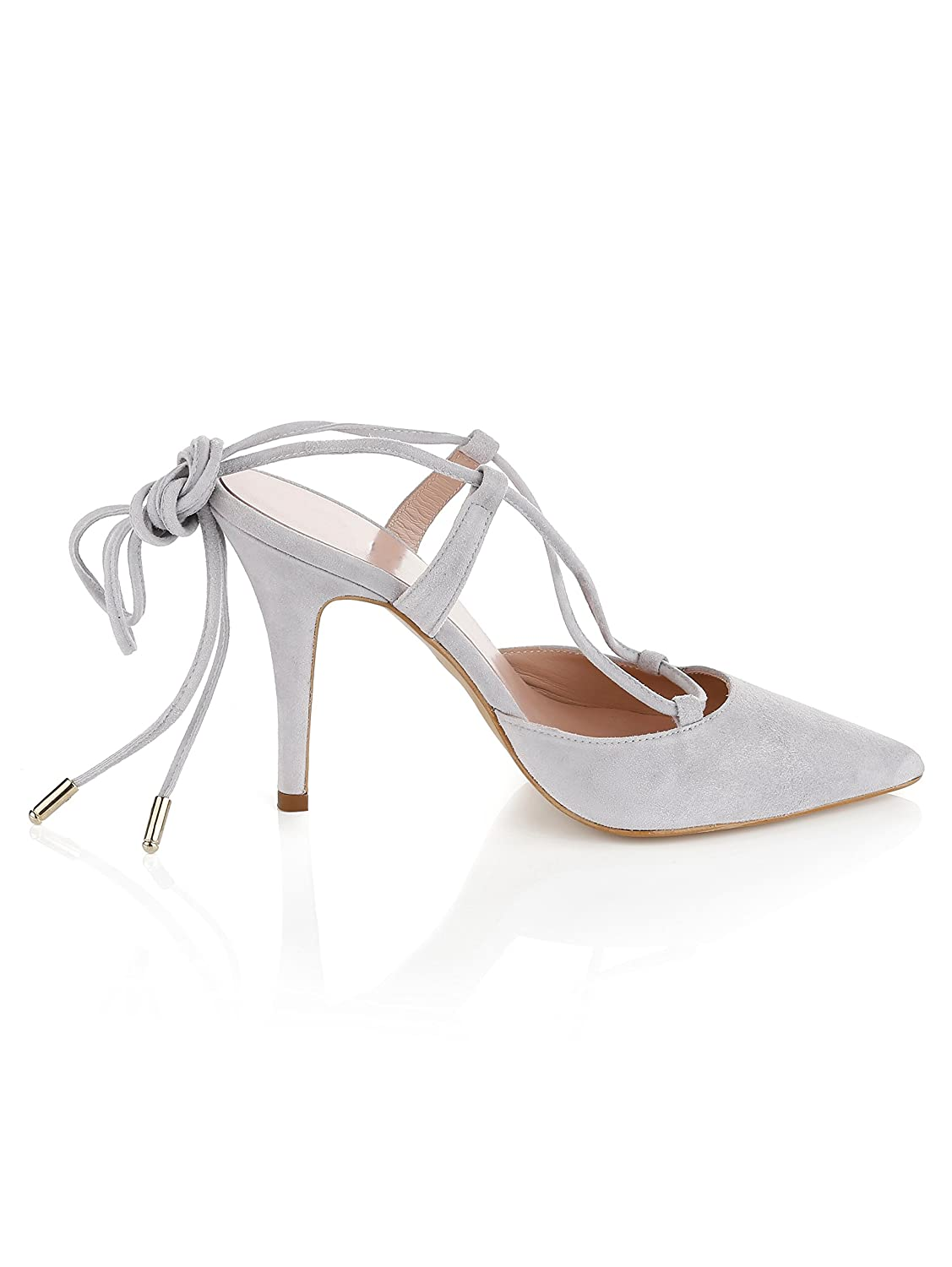 Alba Moda in Pumps in Moda Spitzer Form  Grau cf5952