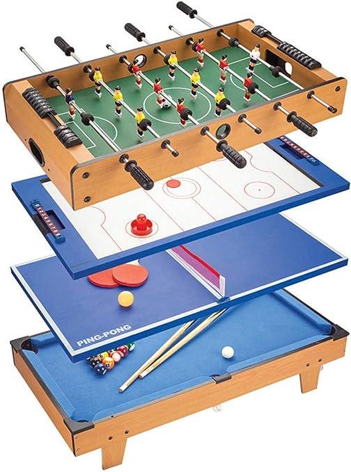YUHT Multi Combo Juego De Mesa,Mesa multijuegos,4 En 1 Juego De Hockey De Mesa
