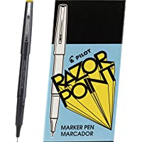 PILOT Razor Point Fine Line Marker Stick Pens, Ultra-Fine Point (0.3mm) Black Ink, 12 Count - 1