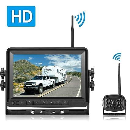 Aceeken Hd Wireless Backup Camera For Rv Trailer Truck Camper Pickup Bus 7 Monitor Digital High Speed Observation Backup Camera System Ip 69k