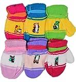 Shopcash Infant Woolen Wear Multicolor Mittens (6-12 months, Pack of 6)