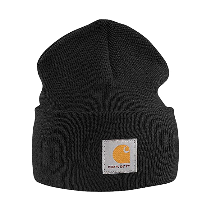 410d05de9e13e Amazon.com  LogoUp Carharrt A18 Acrylic Watch Hat (Black)  Clothing