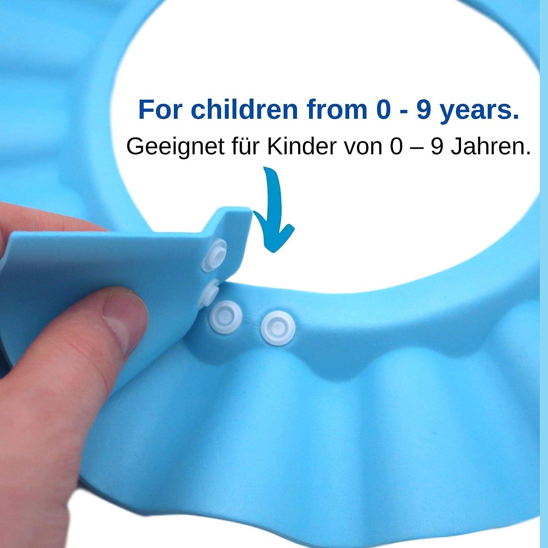 Lictin Baby Shampoo Cap Augenschutz f/ür Kinder Badeschutz weicher Kappen Hut Haare waschen ohne Tr/änen verstellbar Baby Duschkappe