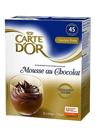 Carte Dor Mousse Au Chocolat Dessertcremepulver Voller